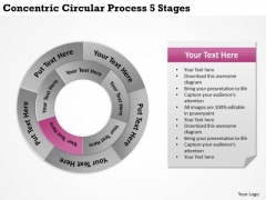 Company Business Strategy Concentric Circular Process 5 Stages Developing