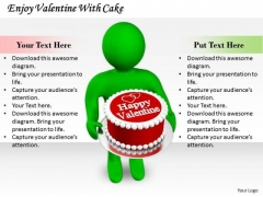 Company Business Strategy Enjoy Valentine With Cake 3d Character Modeling