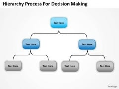 Company Organization Chart Hierarchy Process For Decision Making PowerPoint Templates