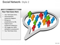 Company Social Network 2 PowerPoint Slides And Ppt Diagram Templates