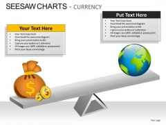 Comparison Seesaw Charts Currency PowerPoint Slides And Ppt Diagram Templates