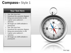 Compass 1 PowerPoint Slides And Ppt Diagram Templates