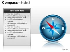 Compass 2 PowerPoint Slides And Ppt Diagram Templates