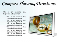 Compass Showing Directions Geographical PowerPoint Presentation Slides F