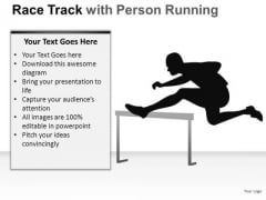 Competition Race Person Running PowerPoint Slides And Ppt Diagram Templates