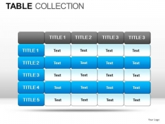 Competition Table Collection PowerPoint Slides And Ppt Diagram Templates