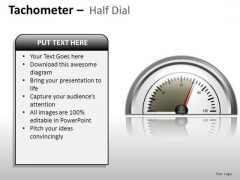 Competition Tachometer Half Dial PowerPoint Slides And Ppt Diagram Templates