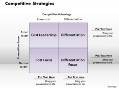 Competitive Strategies Business PowerPoint Presentation