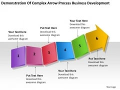 Complex Arrow Process Business Development Ppt Plan PowerPoint Slides