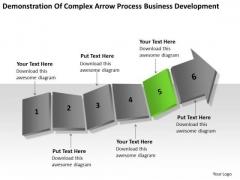 Complex Arrow Process Business Development Ppt Plan PowerPoint Templates