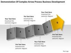 Complex Arrow Process Business Development Ppt Plans PowerPoint Templates