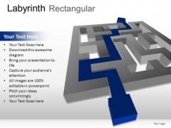 Complex Labyrinth Rectangular PowerPoint Slides And Ppt Diagram Templates
