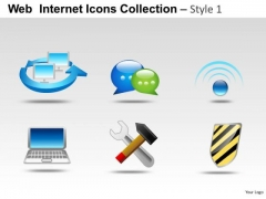 Computer Chat Web Internet Icons PowerPoint Slides And Ppt Diagram Templates
