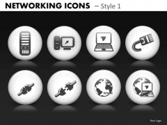 Computer Networking Icons PowerPoint Templates