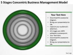 Concentric Business Managment Model Ppt Plan Preparation Service PowerPoint Templates