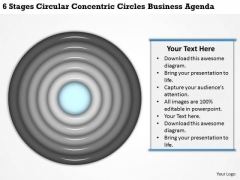 Concentric Circles Business Agenda Ppt How To Design Plan PowerPoint Templates