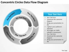 Concentric Circles Data Flow Diagram Business Plan Templates PowerPoint