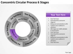 Concentric Circular Process 6 Stages Business Contingency Plan PowerPoint Templates