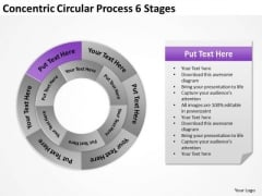 Concentric Circular Process 6 Stages Business Plan PowerPoint Slide