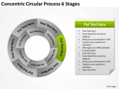 Concentric Circular Process 6 Stages Business Plan PowerPoint Slides