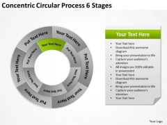 Concentric Circular Process 6 Stages Business Plans PowerPoint Templates