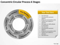 Concentric Circular Process 6 Stages Business Proposal Examples PowerPoint Templates