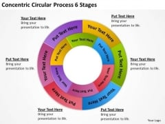 Concentric Circular Process 6 Stages Great Business Plan Examples PowerPoint Slides