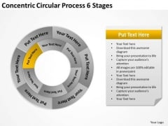Concentric Circular Process 6 Stages How To Business Plan PowerPoint Slides