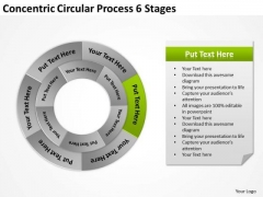 Concentric Circular Process 6 Stages How To Formulate Business Plan PowerPoint Templates