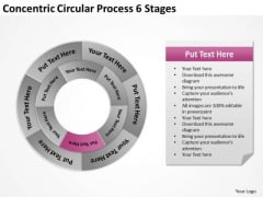 Concentric Circular Process 6 Stages Ppt Business Plan PowerPoint Slides