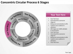Concentric Circular Process 6 Stages Ppt How To Form Business Plan PowerPoint Slides