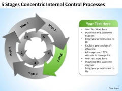 Concentric Internal Control Processes Business Plans For PowerPoint Slides