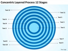 Concentric Layered Process 12 Stages Ppt Business Plan Forms PowerPoint Slides