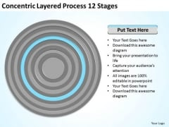 Concentric Layered Process 12 Stages Ppt Company Business Plan PowerPoint Templates