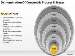 Concentric Process 8 Stages Ppt Business Plan Template PowerPoint Slides