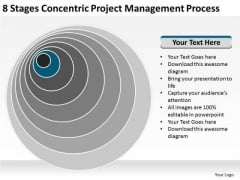 Concentric Project Management Process Company Business Plan PowerPoint Templates