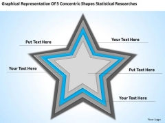 Concentric Shapes Statistical Researches Ppt Business Plan Example PowerPoint Templates