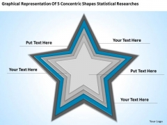 Concentric Shapes Statistical Researches Ppt Business Plans Templates PowerPoint