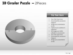 Concept 3d Circular Puzzle 2 Pieces PowerPoint Slides And Ppt Diagram Templates