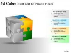 Concept 3d Cubes Puzzle Pieces PowerPoint Slides And Ppt Diagram Templates