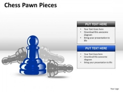 Concept Chess Pawn Pieces PowerPoint Slides And Ppt Diagram Templates