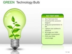 Concept Green Technology Bulb PowerPoint Slides And Ppt Diagram Templates