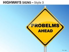 Concept Highways Signs 3 PowerPoint Slides And Ppt Diagram Templates