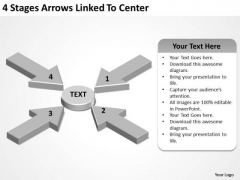 Concept Of Parallel Processing 4 Stages Arrows Linked To Center PowerPoint Templates