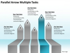 Concept Of Parallel Processing Arrow Multiple Tasks PowerPoint Templates