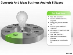 Concepts And Ideas Business Analysis 8 Stages Ppt Examples Plan PowerPoint Templates