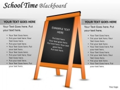 Concepts School Time Blackboard PowerPoint Slides And Ppt Diagram Templates