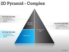Conceptual 2d Pyramid Complex PowerPoint Slides And Ppt Diagram Templates