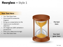 Conceptual Deadline Hourglass 1 PowerPoint Slides And Ppt Diagram Templates