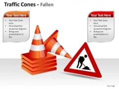 Cone Construction Traffic Cones PowerPoint Slides And Ppt Diagram Templates